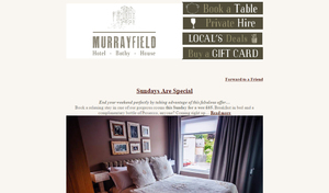 The Murrayfield Hotel - Monthly newsletter