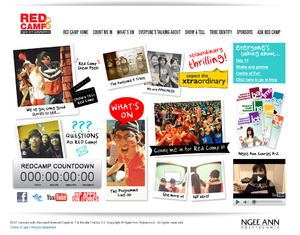 Red Camp 8 Event Website