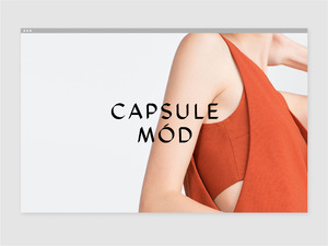 Capsule Mód — Branding and Website Design
