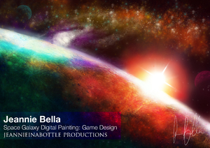Space Galaxy Digital Painting - Game Design