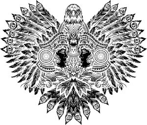 Tribal Eagle Vector Art