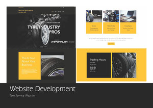 National Tyre Service Website Concept Design