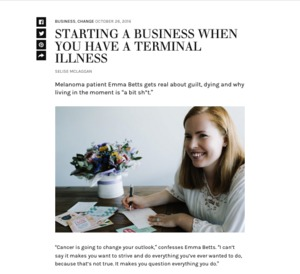 Starting a business when you have a terminal illness