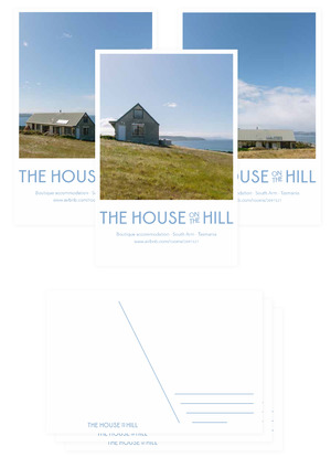 House On The Hill postcard design