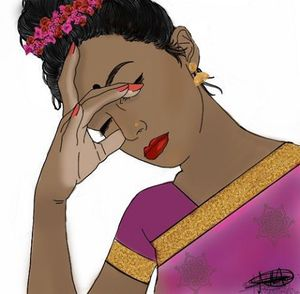 Stressed Out Indian Girl