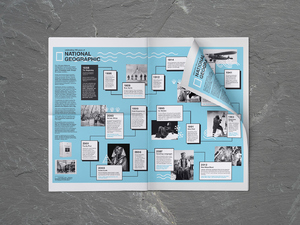 Infographic: 'National Geographic' Newspaper Spread