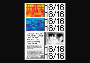 16/16 UTS Festival of Architecture & Landscape: A1 poster