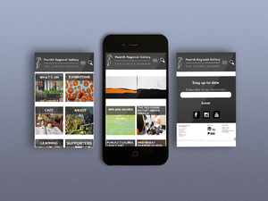 Penrith Regional Gallery Mobile Website Designs