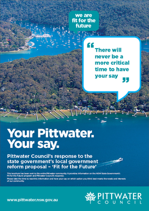 Pittwater Council Fit for the Future brochure