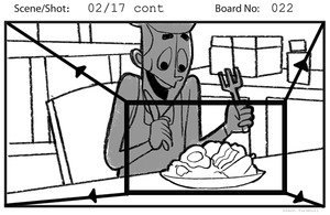 TV production storyboards