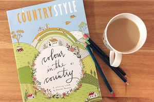 Colour in the Country: colouring in book