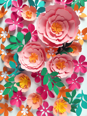 Event decoration - paper flowers