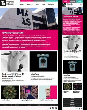 Powerhouse Museum - Html Email Design & Development (Hamburger Menu)