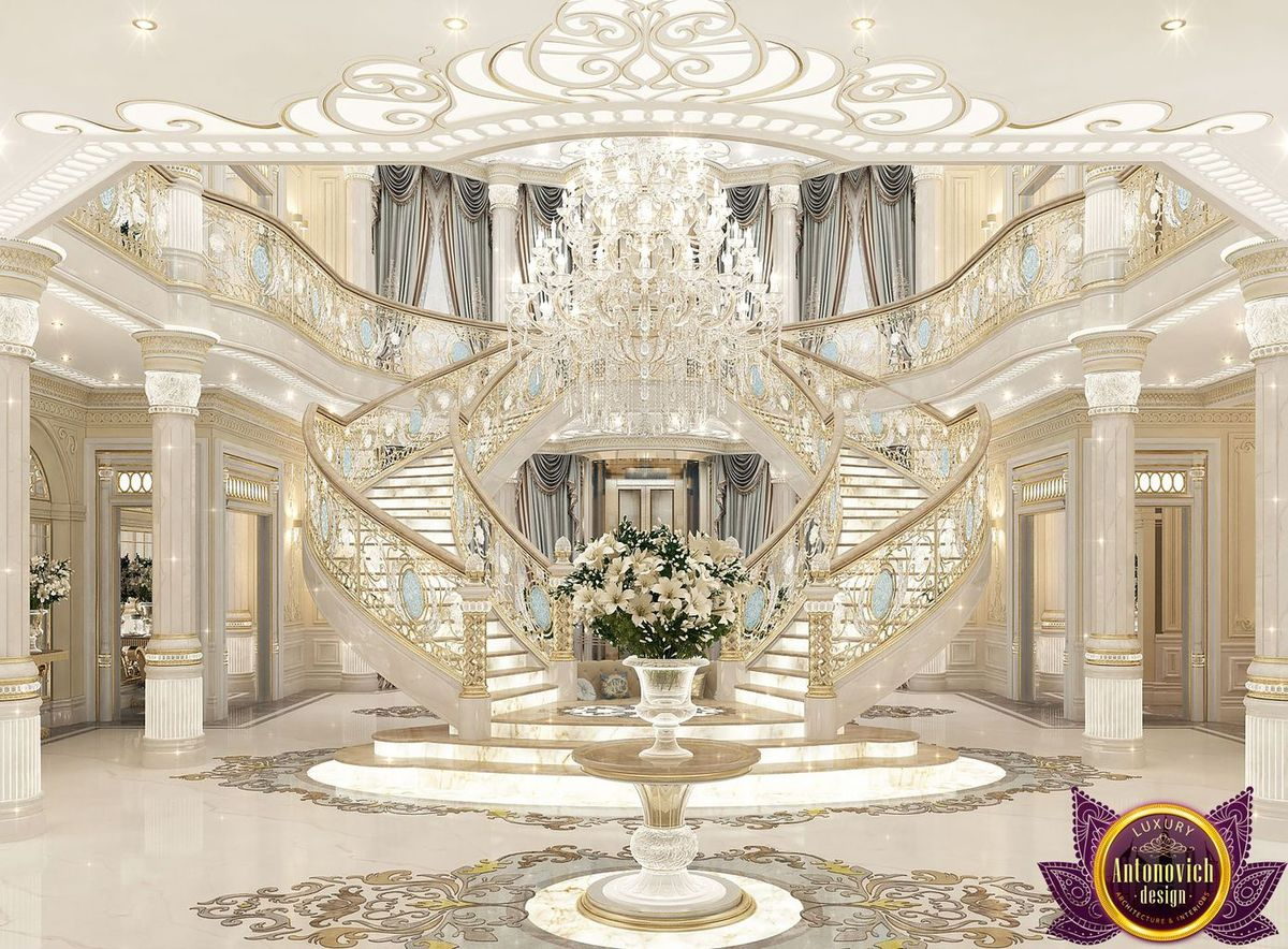 Palace interiors from luxury antonovich design katrina for Palatial home designs