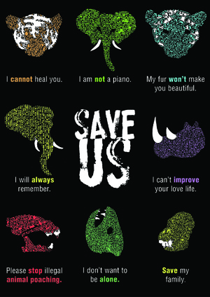 Poster Against Animal Poaching