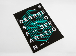 Typographic Film Poster: Six Degrees of Separation