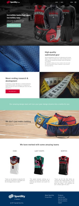 Sportility Landing Pages