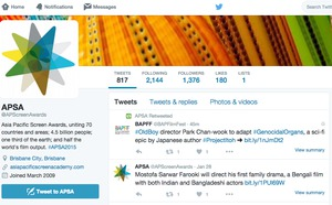 Social Media Management for Asia Pacific Screen Awards