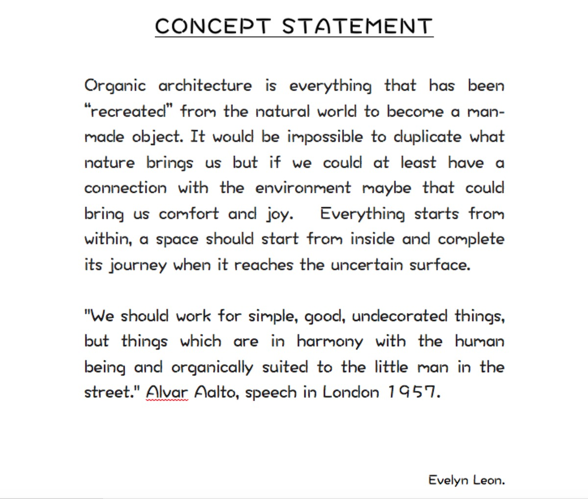 Architecture Design Concept Statement Architecture Design