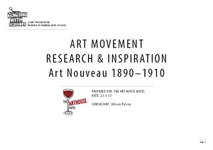 Project Research and Inspiration - Art Nouveau