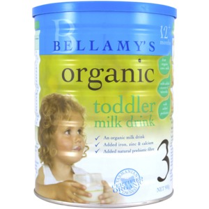 Bellamy's Organic Product Packaging