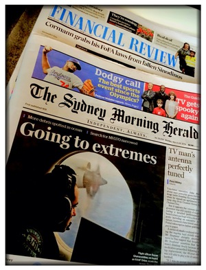 Front Cover Design & Layout SMH Sydney Morning Herald Newspaper