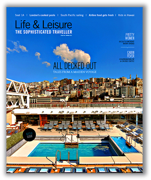 Life & Leisure Sophisticated Traveller Magazine Cover Design