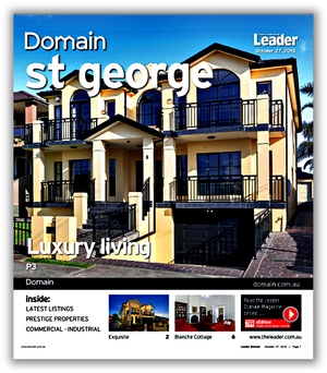 St George Leader DOMAIN Real Estate Front Cover Design