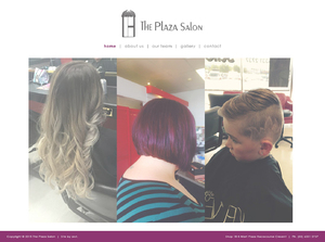 The Plaza Salon Website Design
