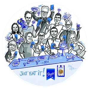 Digital Caricatures on plate