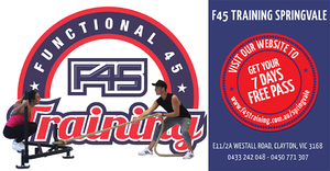 F45 TRAINING SPRINGVALE FLYER