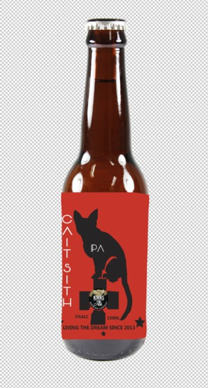 A craft beer label