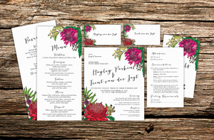 Mr & Mrs van der Jagt Wedding Stationery