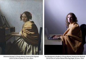 'A Young Woman Seated at the Macbook' - Photography Lighting assignment