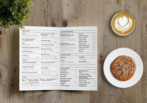 Campos Coffee menu design