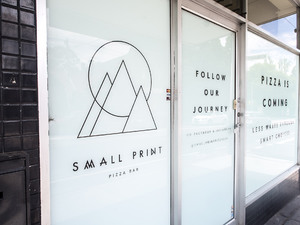 Small Print Pizza Bar Identity & Signage