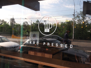 Hard Pressed Cafe Identity & Signage