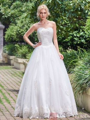 Beautiful Beaded Appliques Sweetheart A Line Wedding Dress