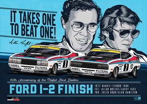 40TH ANNIVERSARY OF THE MOFFAT FORD DEALERS 1-2 FINISH LIMITED EDITION PRINT