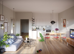 Interior design in Scandinavian style