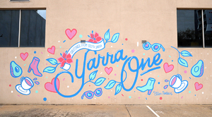 Greeting From South Yarra: Yarra One Mural