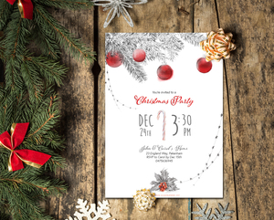 ETSY Christmas Party Invitation Template