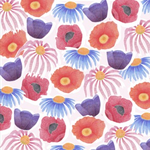 Bed of Flowers Illustration