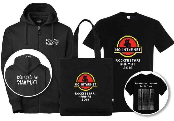 Rockfestari Naamat 2019 paitapaketit