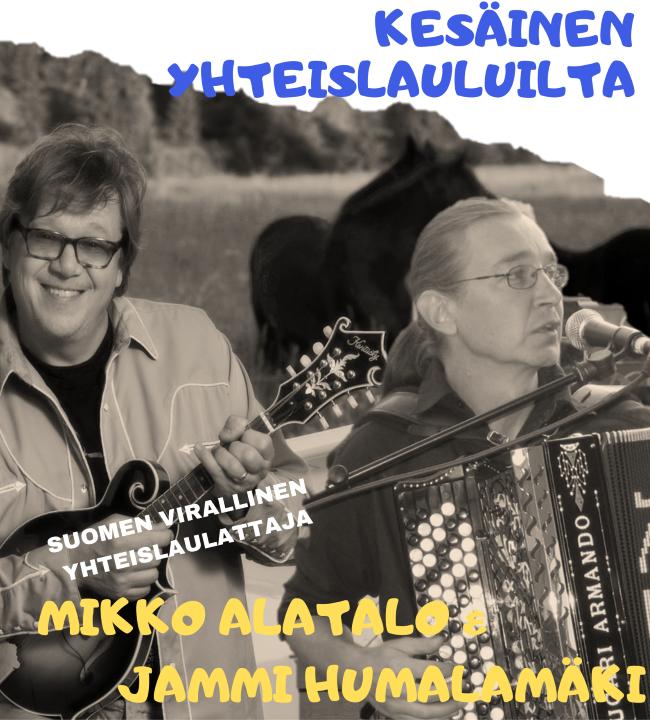 Kesäinen yhteislauluilta Hauhotalolla - Mikko Alatalo laulattaa