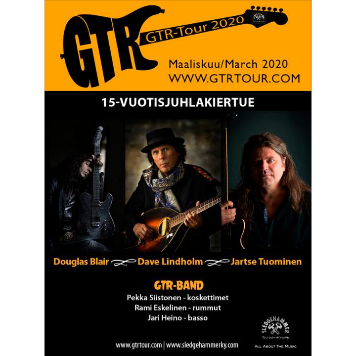 Bomba Live: GTR Tour 2020; Dave Lindholm, Jartse Tuominen, Doug Blair (W.A.S.P) 20.3. (PERUTTU)