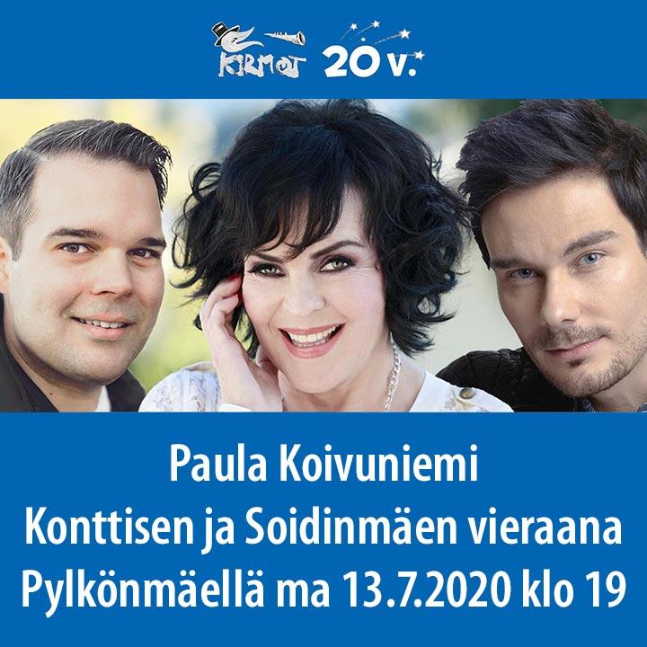 """KIRMOT 2020: """"Pylkön Pojat"""" Mikael Konttinen ja Tommi Soidinmäki, vierailijana Paula Koivuniemi"""