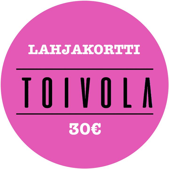 30 euron lahjakortti ravintola Toivolaan