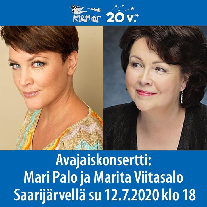 KIRMOT 2020: Avajaiskonsertti Mari Palo ja Marita Viitasalo