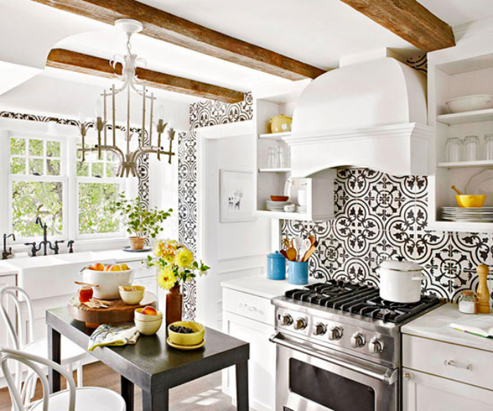Kitchen Backsplash Layouts 4 kitchen backsplash pattern ideas - livvyland | austin fashion